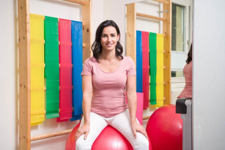 Inge Hannesschläger setzt auf Gymnastikball